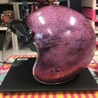 Pro Helmet (Pink Glitter)