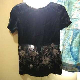 Silk Black Top