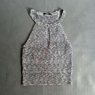 PAPAYA Knitted Halter Top