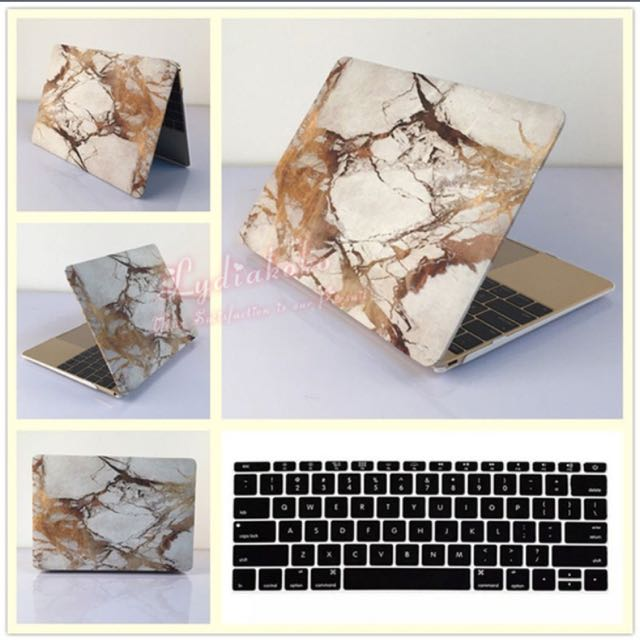 "13"" MacBook Pro Gold Marble Hardcase + Keyboard Cover"