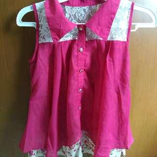 Pink Layered Top