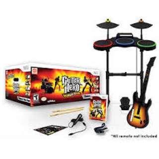 Guitar Hero Full set (Wii)