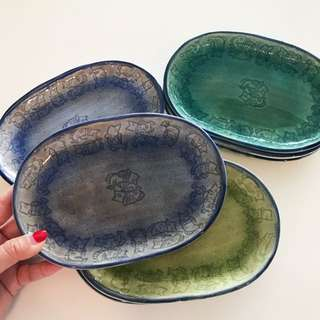 Hand Crafted Serving Plates