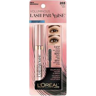 "NEW LOREAL PARIS LASH PARADISE WATERPROOF MASCARA IN ""BLACK"" DUPE FOR BETTER THAN SEX MASCARA"