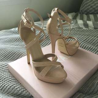 Verali Nude Strapped Heels
