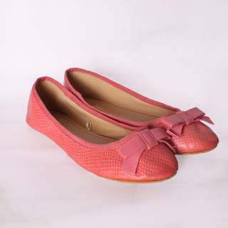 Pink Ribbon Flat Shoes