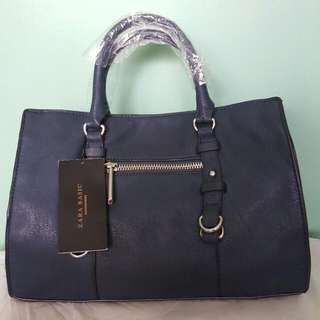 AUTHENTIC ZARA SLING/HAND BAG (Blue) 1 Stock