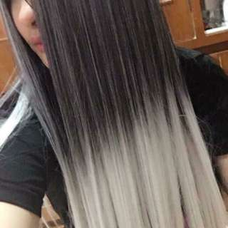 Ombre Gray Hair Extension