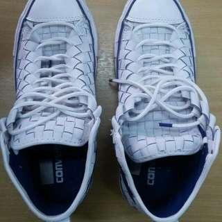 Converse ORIGINAL Ct Hi woven leather white blue 150446C