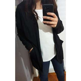 French Connection Black Slouchy Cardigan