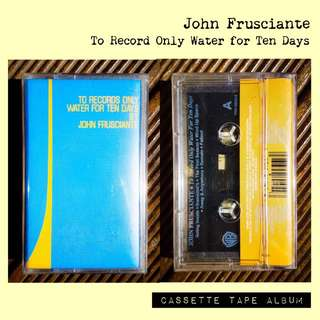 John Frusciante - To Record Only Water for Ten Days Cassette Album *Brand New, Original + Sealed*