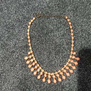 Pink With Gold Necklace