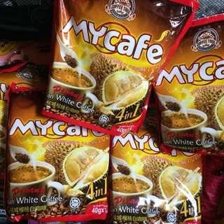 代購馬來西亞白咖啡 MY Café檳城榴槤白咖啡4合1 Durian Coffee