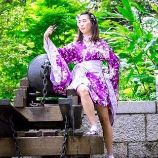 For rent: Waloli purple yukata