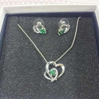 Swarovski Green Jewellery set