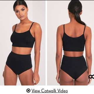 Basic High Waist Knicker And Bralette Set