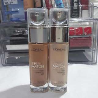 L'Oreal True Match Foundation Bundle