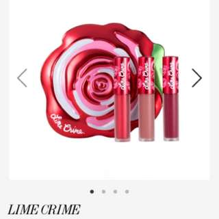 代購~Lime Crime 玫瑰唇膏組 Velve-Tin Mini Velvetines Trio