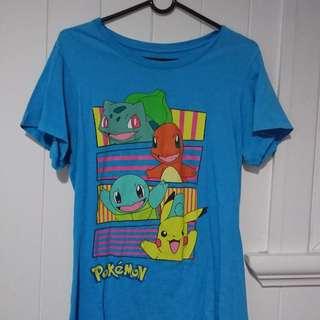 Pokémon 90s Style Blue Tee Size L