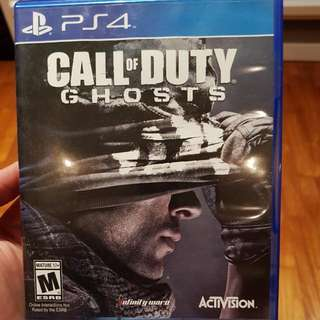 PS4 GAME COD: GHOSTS