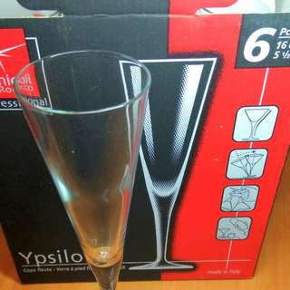 *NEW* Bormioli Rocco Flute stemware 香檳杯 Box of 5 glasses