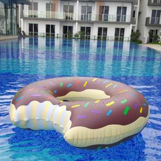 Brown Donut Float Party