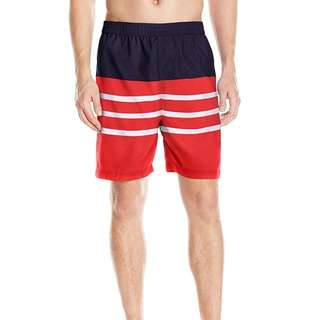 Brand New With Tag Hawke & Co Men's Striped Elastic Waist Swim Trunk