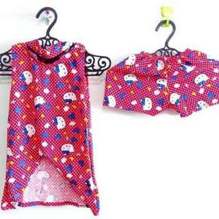 Hello Kitty Chiker Terno For Girls