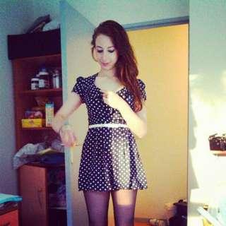 Cute Polka Dot Romper (from NewLook)