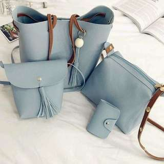 4 in 1 Leather Bags
