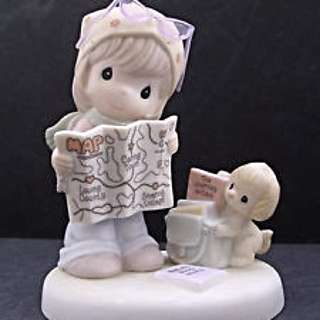 Precious Moments Figurine - Map A Route Toward Loving Caring & Sharing