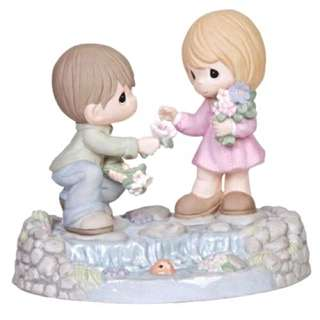 """Precious Moments Figurine """"Loving Starts With You And Me"""""""