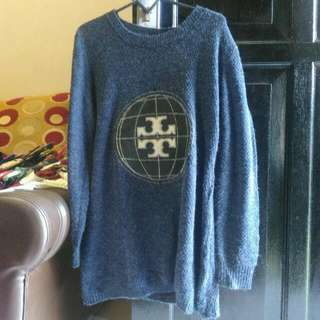 Sweater Knitwear Navy Blue Biru Dongker