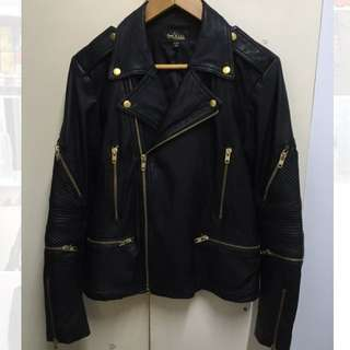 IT 5cm X Han Huo Huo 韓火火 Fire Collection limited edition 皮䄛 皮衣 皮外套 Leather Jacket 頂級柔軟羊皮; 90% New; Size M; 原價:9000