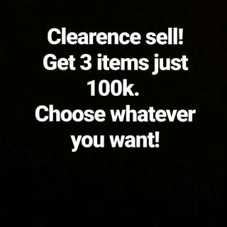 Clearences Sell All Items.