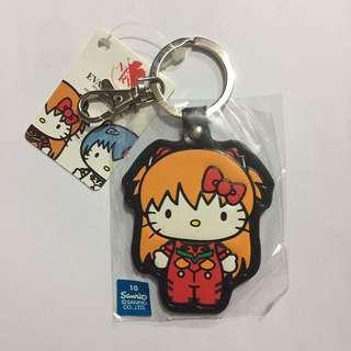 hello kitty sanrio SHIKINAMI ASUKA LANGLEY 新世紀エヴァンゲリオン 鎖匙扣 掛飾 吊飾