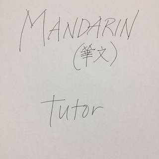 Mandarin Tutor