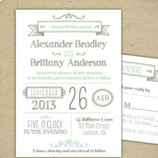 Personalized Invitations (Wedding, Kids Party, Debutant, Baby Shower Etc)