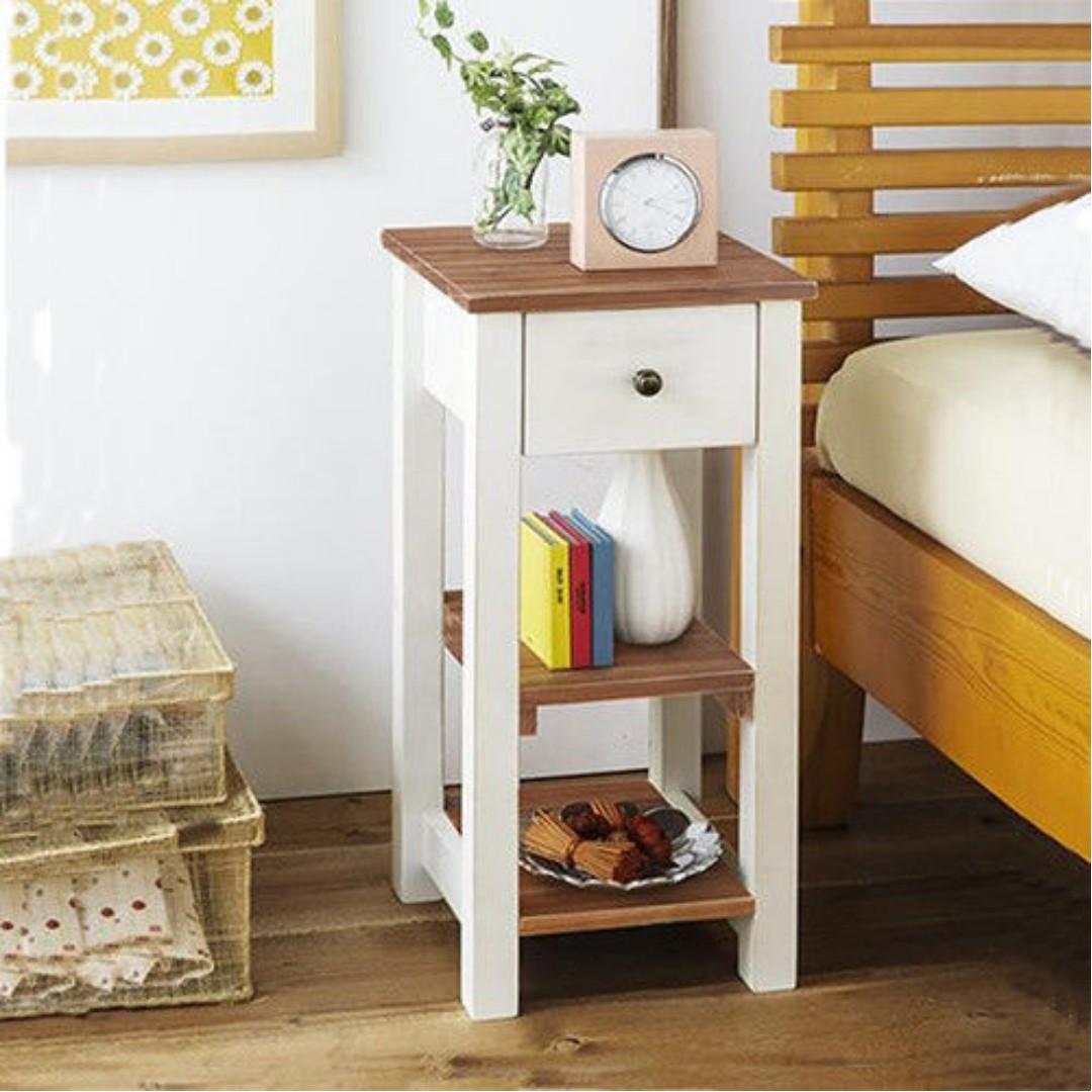 鄉村風格復古木調收納台/側邊桌/廚房架