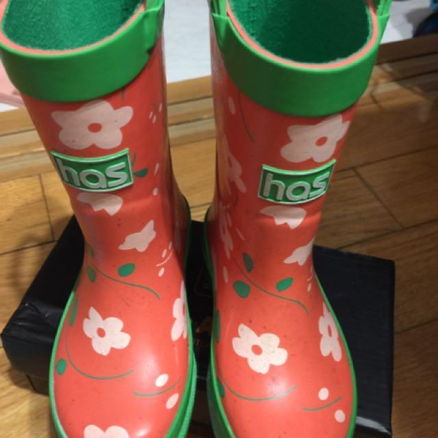 小花紅雨鞋