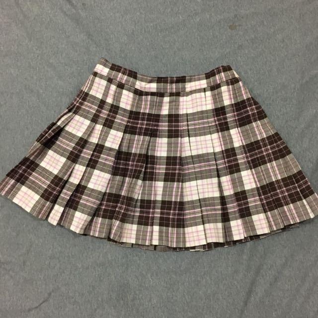 專櫃歐美 英倫風百褶裙