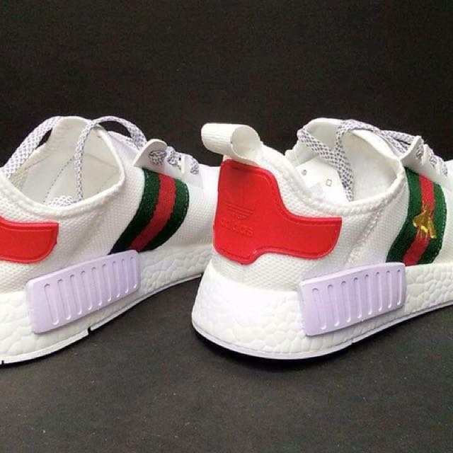be12f14800a Adidas NMD R1 Prime Knit x Gucci Bee White