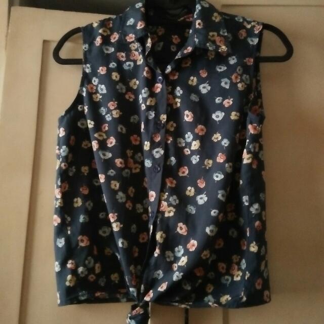 Amanda's Place Floral Tie Top