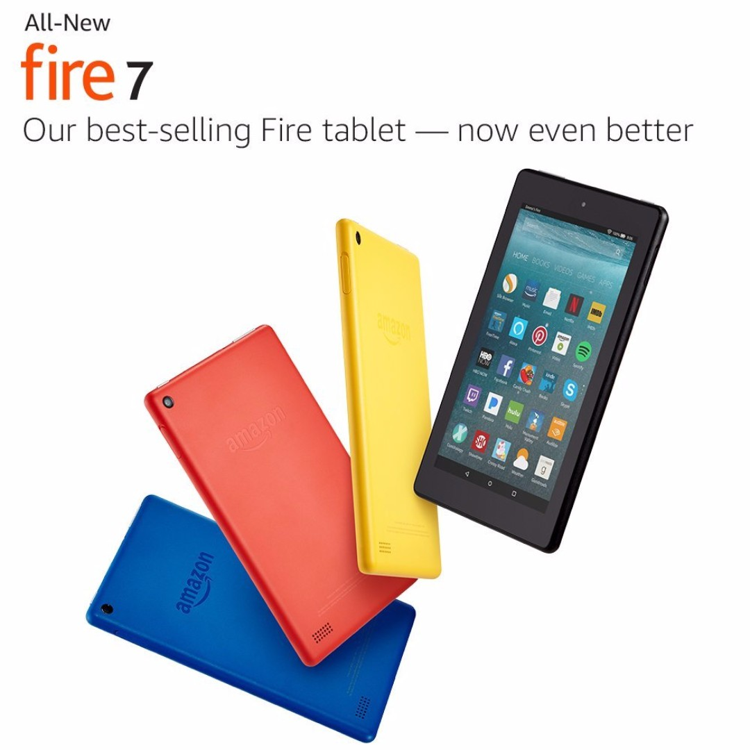 Amazon Kindle Fire 7' (2015 n 2017 edition) & HD 8 (2016 n 2017  edition)Tablet