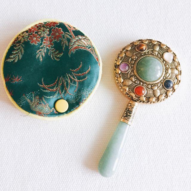 Antique Small Mirror