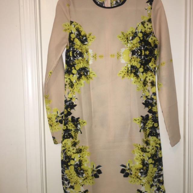 Asos Nude Floral Dress