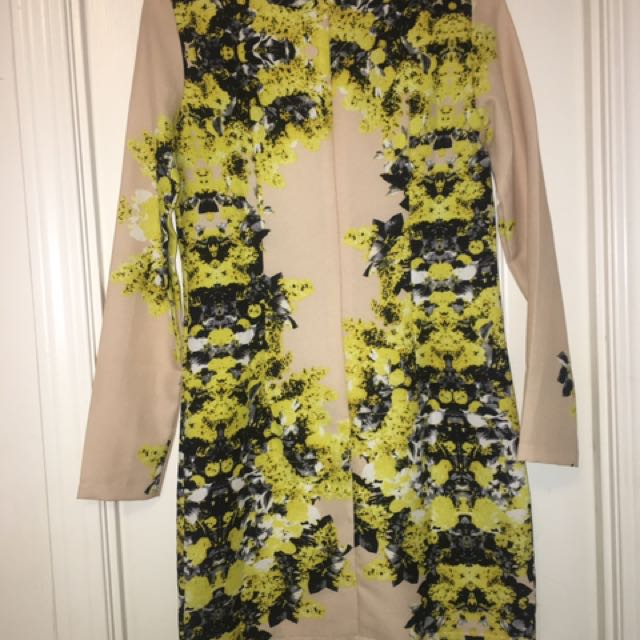 Asos Nude Floral Dress