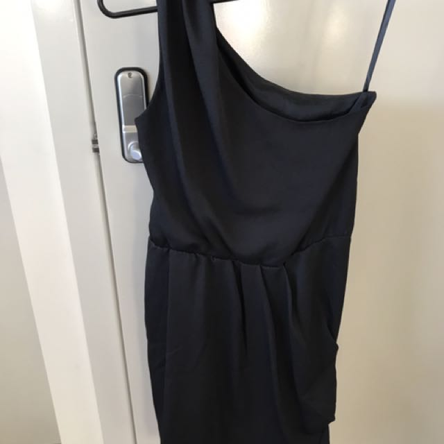 ASOS One Shoulder Drape Dress