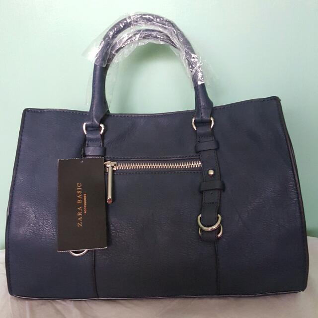 AUTHENTIC ZARA SLING/HAND BAG (Blue) 1 Stock