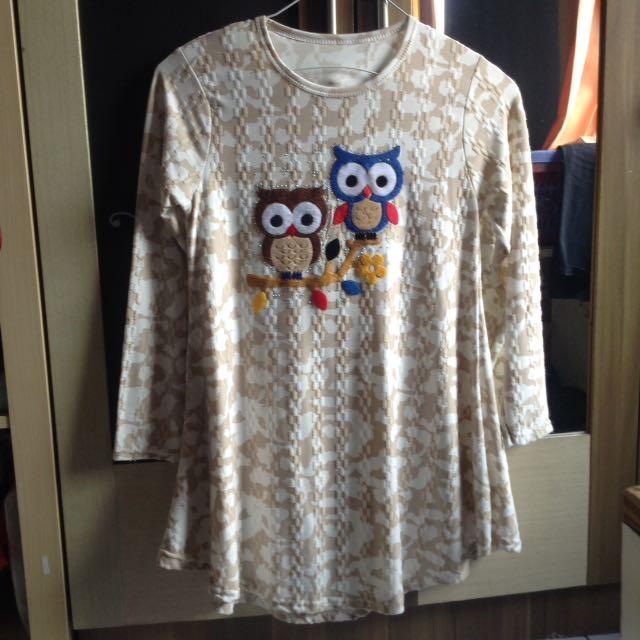 baju owl panjang